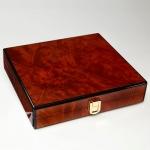 Hộp Đựng Cigar - Daniel Marshall Burl Slim Travel Humidor