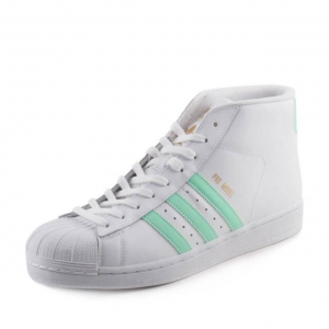Adidas Mens Pro Model White/Easter Green