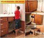 Đặt hàng chính hãng: BƯỚC 180- Một chiếc ghế bệ kéo ra được tích hợp.