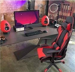Ghế Homall Gaming Chair Racing Phong cách High - Back Faux Leather