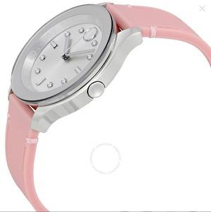 Bold Silver Quay số màu hồng Silicone Ladies Watch đồng hồ nữ cao cấp