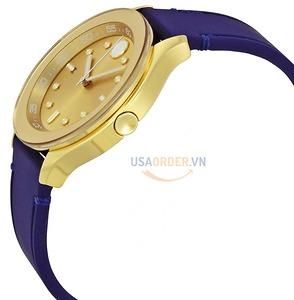 Bold Gold Dial Blue Silicone Ladies Watch đồng hồ nữ chính hãng