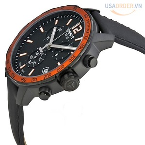 Quickster Chronograph Black Dial Men's Watch T0954491705701 chính hãng