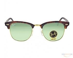 Hàng chính hãng Ray-Ban Clubmaster Tortoise Arista 51mm Sunglasses