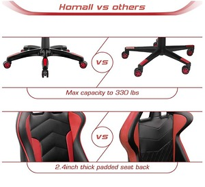 Homall Gaming Chair Racing Phong Cách Cao-Trở Lại PU Leather Ghế Văn Phòng