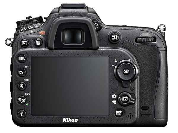 Máy ảnh Nikon D7100 mặt sau
