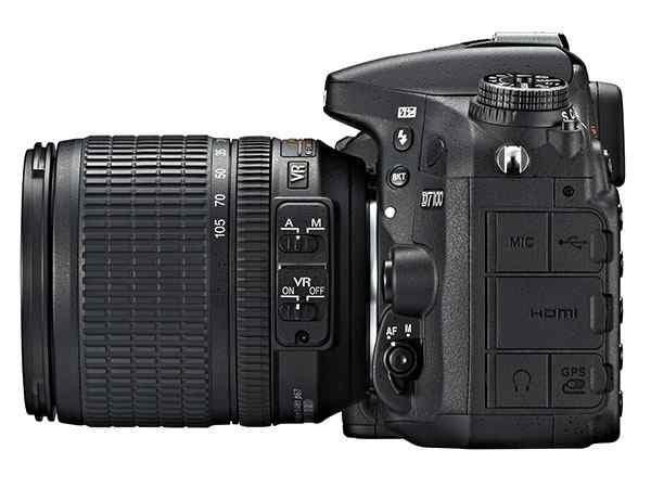 Máy ảnh Nikon D7100 mặt bên