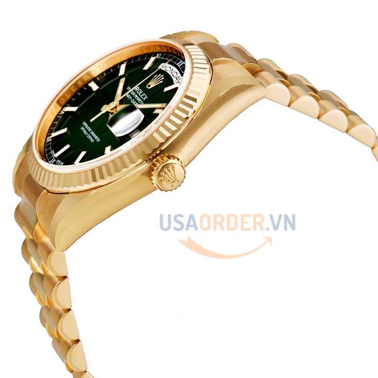 Champagne quay số tự động 18k Gold đồng hồ nam cao cấp giá rẻ chính hãng ROLEX