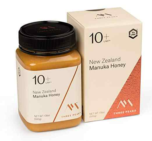 Three Peaks Manuka Honey New Zealand - Certified UMF 10+ - 17.6 oz (500gm)
