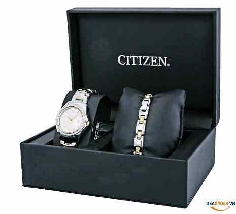 Genuine Order Silhouette Crystal Silver Dial Ladies Watch Set