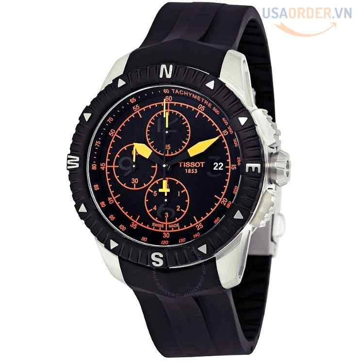 T-Navigator Automatic Chronograph Black Dial Men's Watch T0624271705701
