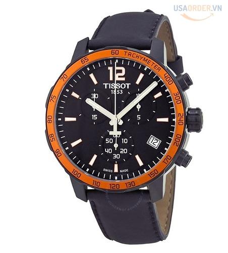 Tissot Quickster Chronograph Black Dial Men's Watch T0954491705701