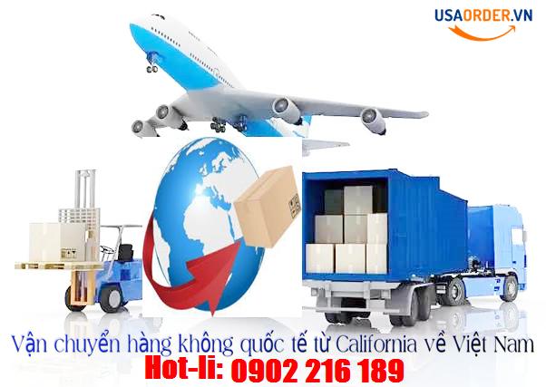Vận chuyển hàng không quốc tế từ Californiavề Việt Nam