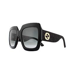 Kính Nữ Gucci GG0102S 001 BlackGrey GG0102S Square Sunglasses
