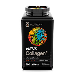 Viên Uống Collagen nam - Youtheory Mens Collagen type 1 2 & 3 hộp 390 viên