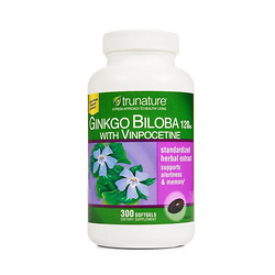 Viên uống bổ não trunature Ginkgo Biloba with Vinpocetine 300 viên - Nhập Khẩu Mỹ