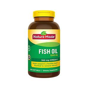 Thực phẩm chức năng Nature Made Fish Oil 1200mg 360mg Omega 3 200 Viên - Nhập Khẩu Mỹ