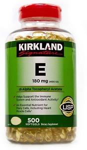 Viên Uống Vitamin E Kirkland - 180 mg - 500 viên - Nhập Khẩu Mỹ