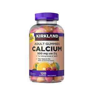 Kẹo Kirkland Signature Adult Gummies Calcium 500mg with D3 120 viên