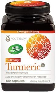 Viên uống tinh chất nghệ Youtheory Turmeric 1000mg 180 viên - Nhập Khẩu Mỹ