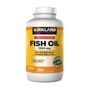 Dầu Cá Omega-3 Kirkland Fish Oil 400 Viên – Nhập khẩu Mỹ