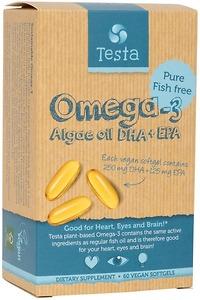 Viên Uống Testa Omega-3 Algae oil DHA + EPA 60 viên - Nhập Khẩu Mỹ