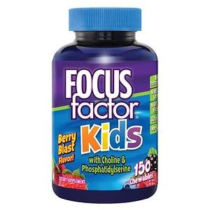 Kẹo bổ phát triển trí não cho trẻ FOCUS Factor For Kids 150 viên - Nhập Khẩu Mỹ