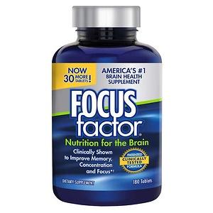Viên Uống Bổ Não Giảm Stress Tăng Cường Trí Nhớ Focus Factor 180 viên - Hàng nhập khẩu Mỹ