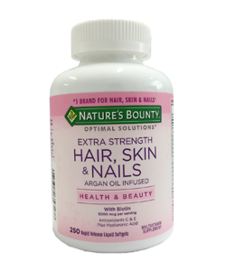 Vitamin Tổng Hợp Nature's Bounty Extra Strength 250 Tablets Hair Skin Nails - Nhập Khẩu Mỹ