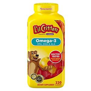 Kẹo gấu bổ sung Omega-3 và DHA L'il Critters Omega-3 DHA Gummy Fish 220 viên - Nhập Khẩu Mỹ