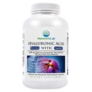 Viên uống đẹp da bổ khớp Nature's Lab Hyaluronic Acid 180 viên - Nhập Khẩu Mỹ