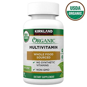 Viên uống vitamin hữu cơ Kirkland Signature Organic Multivitamin 80 viên - Nhập Khẩu Mỹ