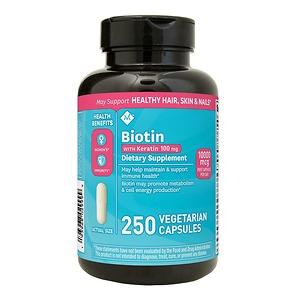 Viên Uống Ngăn Rụng Tóc Biotin 10 000mcg With Keratin 100mg 250 viên - Nhập Khẩu Mỹ