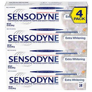 Kem đánh răng Sensodyne Extra Whitening 184g - 4 tuýp - Nhập Khẩu Mỹ