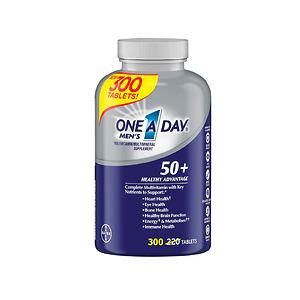 Viên uống One A Day cho nam trên 50 tuổi One A Day Men's 50+ Multivitamin 300 viên - Nhập Khẩu Mỹ