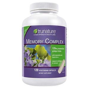 Viên uống tăng cường trí nhớ trunature Memory Complex with Ginkgo Biloba 120 viên - Nhập Khẩu Mỹ