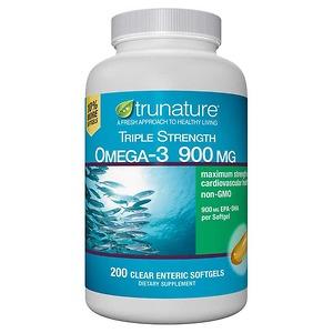 Dầu cá Omega 3 Trunature Triple Strength Omega-3 900mg 200 viên - Nhập Khẩu Mỹ