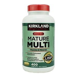 Viên Uống Kirkland Mature Multi Mỹ Cho Người Trên 50 Tuổi - 400 viên - Nhập Khẩu Mỹ