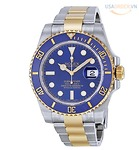 ROLEX Submariner Blue Quay số thép không gỉ và 18K Bracelet tự động