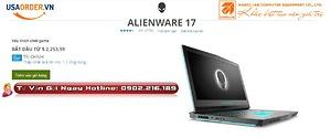Alienware 17 chính hãng | GTX1060/1070/1080 New 2018