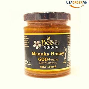Bee Natural Manuka Honey 600+mg/kg Methylglyoxal 250g bee
