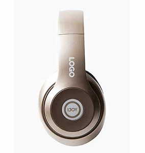 iJoy Matte Rechargeable Wireless Bluetooth Foldable Over Ear Headphones with Mic (GLD)
