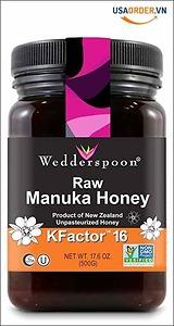 Mật ong Manuka cao cấp nguyên chất Wedderspoon KFactor 16, 17.6 Oz