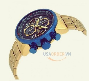Order sell Aviator Chronograph Blue Dial 18kt Gold-plated Men's Watch