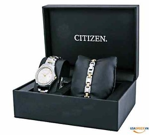 Genuine Order Silhouette Crystal Silver Dial Ladies Watch Set