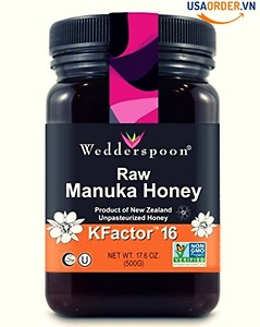 Wedderspoon Raw Premium Manuka Honey KFactor 16, 17.6 O