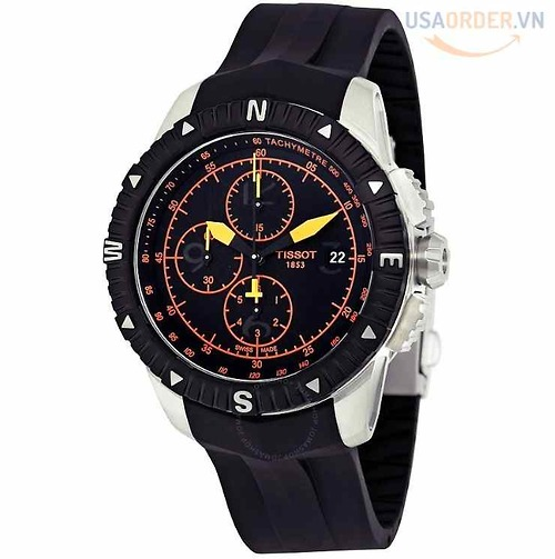 T-Navigator Automatic Chronograph Black Dial Men's Watch