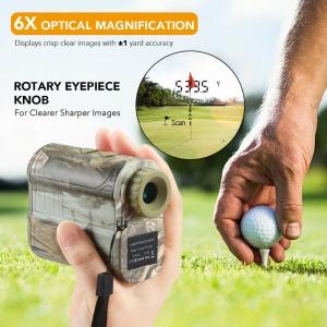 Máy Đo khoảng cách golf 600M Golf Rangefinder 6X